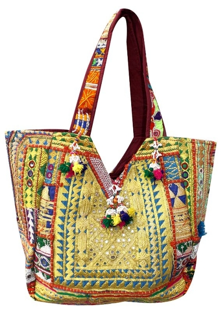 Designer Vintage Handmade Bags Made With Old Textile