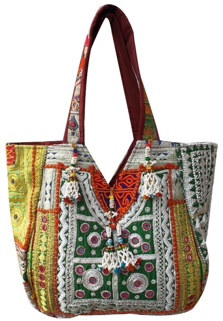 Stunning Tribal Shoulder Bag With Intricate Embroidery