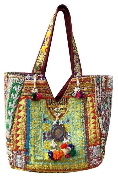 Vintage sari Embroidered bag bcc1979ad3182