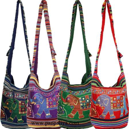 04fac117764 Wholesale Bulk Lot Beautiful Bohemian Cotton Handloom Fabric Motif Shoulder  Bags