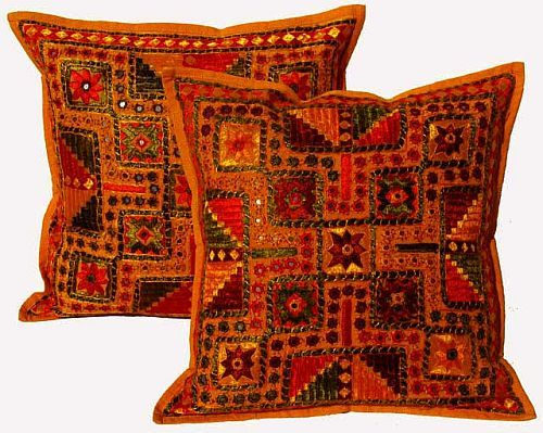 Wholesale Mirror Work Cushion Covers