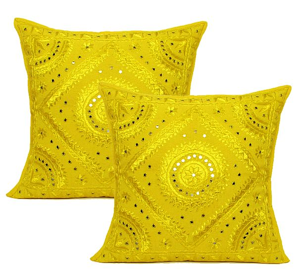 Ethnic Indian Handmade Mirror work Cushion covers products