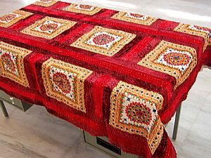 Product:: Mirror Work Table Linen