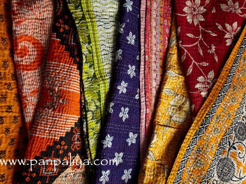 Vintage Kantha Quilts India