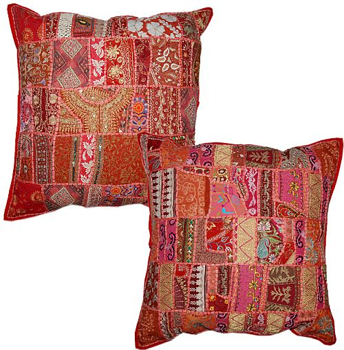 Wholesale Ethnic Vintage Sari Tribal Cushion Covers Jaipur India