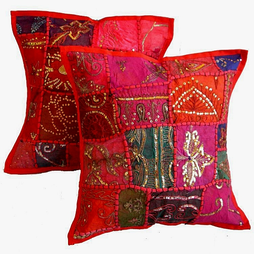 Vintage Sari Traditional Jaipur Pillow Cushion Covers