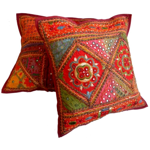 Bohemian Mirror Embroidery Cushion Covers
