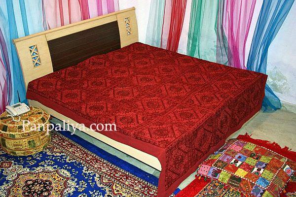 Ethnic Mirror Work Bedspreads