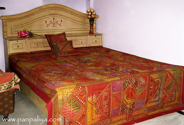 Bohemian Designer Patchwork Bedspreads Indian Style