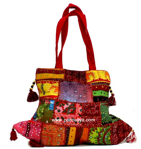 Bohemian Style Boho Bags With Ethnic Embroidery Gypsy Tote Bag