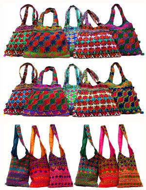 1fa36be7842 We offer high quality 100% cotton made handbags that embellished with  various items, and are offered in different colors and designs.